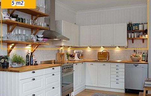 Mẹo sắp xếp nhà bếp nhỏ trở nên rộng rãi hơn, meo sap xep nha bep nho tro nen rong rai hon