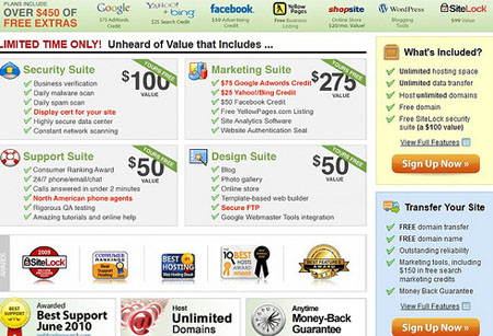 Compare iPage web hosting with some providers
