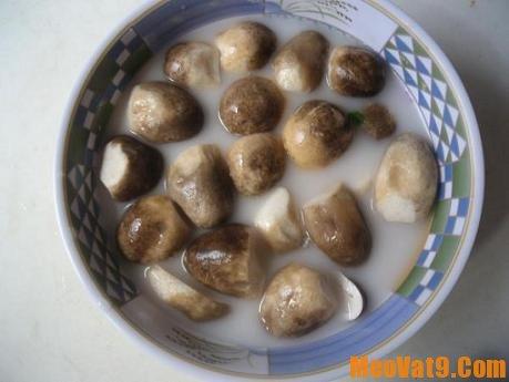 Tác dụng của nước vo gạo trong việc làm trắng nấm