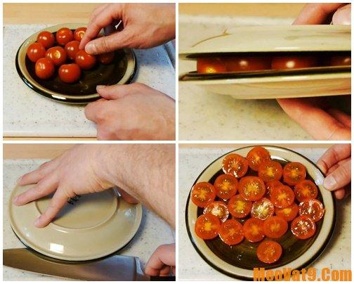 Những mẹo cắt cà chua nhanh