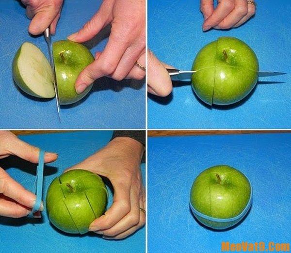 Những mẹo cắt táo không bị thâm