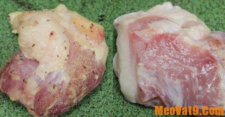 Bí quyết nhận biết thịt bơm nước bằng thị giác