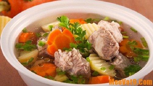 Các loại rau củ và món ăn sử dụng nước hầm xương ngon