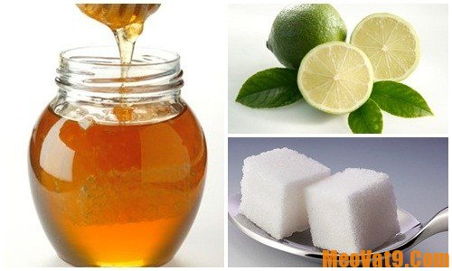 Tẩy ria mép vĩnh viễn với chanh, mật ong, đường