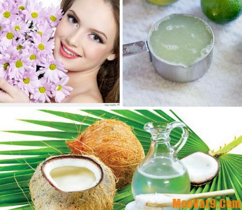 Làm trắng da bằng dầu dừa và nước cốt chanh tươi