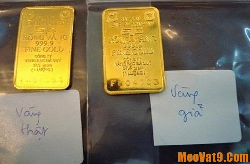 Cách phân biệt vàng thật –vàng giả