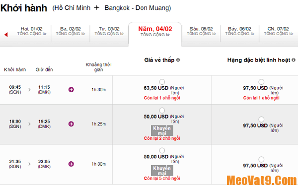 Mẹo săn vé bay giá rẻ du lịch Bangkok dịp Tết