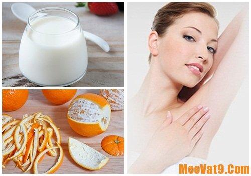 Sử dụng sữa chua và vỏ cam