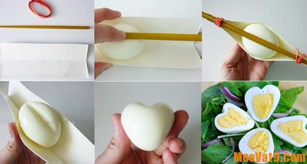 Hướng dẫn cách luộc trứng hình trái tim