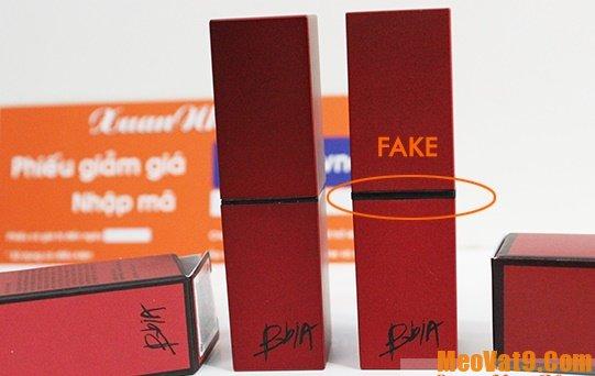 Bí kíp phân biệt son BbiA thật giả đơn giản và chính xác, son BbiA thật và son BbiA giả khác nhau như thế nào?