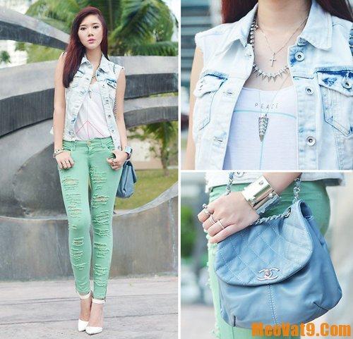 Cách phối đồ với jean nữ, hướng dẫn chọn áo mặc phù hợp với quần jean cho bạn gái