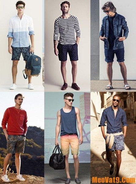 Mẹo phối đồ với quần short nam, đàn ông mặc quần sort nên kết hợp với áo gì?
