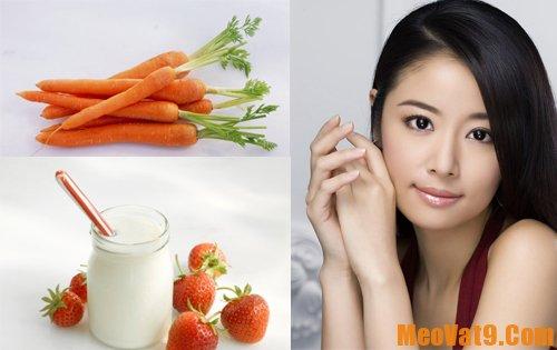 Hướng dẫn tắm trắng da với sữa tươi không đường và cà rốt