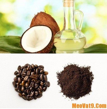 Mẹo tắm trắng bằng bã cà phê kết hợp với dầu dừa